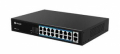 SWITCH PoE MILESIGHT 16 PORTE DW10/100Mbps PoE + 2 UP 1000Mbps, MAX 200W, IEEE802.3 af/at